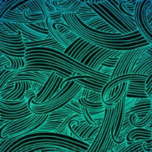 Teal Wisps On Black Dichroic Glass 96 COE