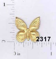 Butterfly Filigree Brass Small