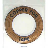 3/16 inch Edco Black Back Copper Foil 1 MIL