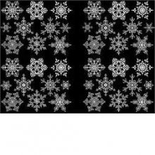 Snowflakes 1 inch Fusible Decals