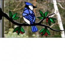 Window Frame Birds Kit  Blue Jay