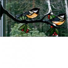 Window Frame Birds Kit  Chickadee Pair