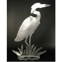 Medium Heron Brushed Aluminum Art Stand