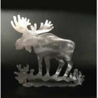 Moose Brushed Aluminum Art Stand