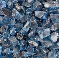 Oceanside Compatible Medium Blue Transparent Frit Coarse 96 COE