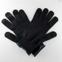 Black Kevlar Gloves, Size Large