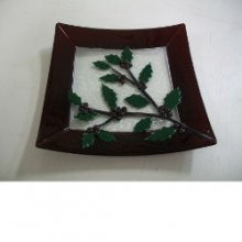 Fused Christmas Holly Berry Dish Inspiration Kit