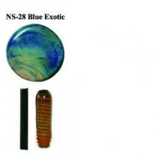 Northstar Glassworks 028 Blue Exotic Rod 33 COE