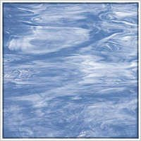 Oceanside Pale Blue/White Wispy Fusible Glass
