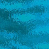 Oceanside Deep Aqua Rough Rolled Glass