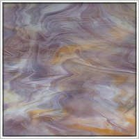 Oceanside Purple, Amber & White Translucent Glass