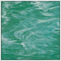 Oceanside Teal Green/White Wispy Fusible Glass