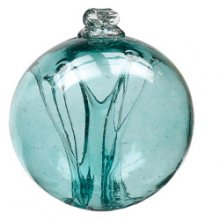 Olde English Witch Ball Teal 6 inch