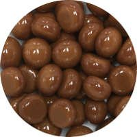 Glass Polka Dots Chestnut Brown 96 COE