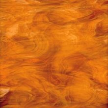 Oceanside Medium Amber with White Translucent Glass