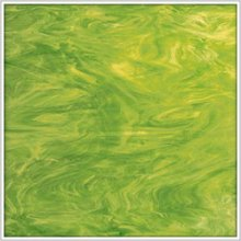 Oceanside Lime Green And White Translucent Glass