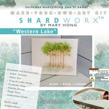 Shardworx Complete Premium Art Kit  Western Lake Trees