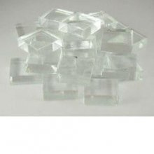 7/8 inch Clear Glass Craft Tiles