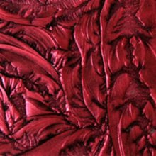 Cranberry Red Van Gogh Metallic Finish Art Glass