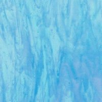 Armstrong Sky Blue and White Wispy Art Glass