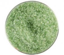 Bullseye Leaf Green Frit Medium Transparent 90 COE