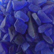 Beach Glass  Large Cobalt Blue