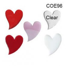 Heart Precut Fusible Glass Shape 96 COE 1 inch