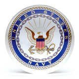 U.S Navy Glass Paperweight