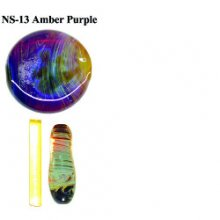 Northstar Glassworks 013 Amber Purple Rod 33 COE