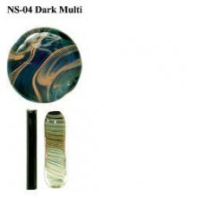 Northstar Glassworks 004 Dark Multi Rod 33 COE