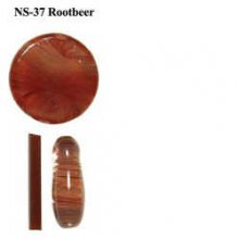Northstar Glassworks 037 Rootbeer Rod 33 COE