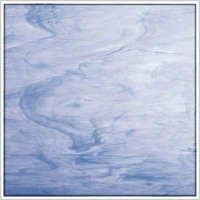Oceanside White/Light Blue Wispy Fusible Glass