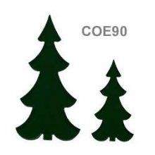 Slim Dark Green Tree Precut Fusible Glass Shape 90 COE