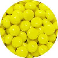 Glass Polka Dots Yellow 96 COE