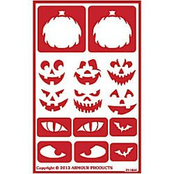 Halloween Faces Stencil Over N Over