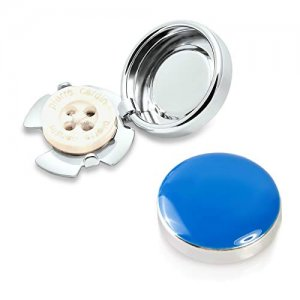 White Plated Locking Button Covers  Sold as Each