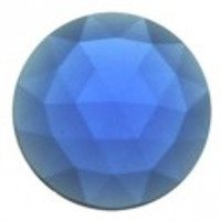 Glass Jewel Round Faceted Dark Blue 20 mm