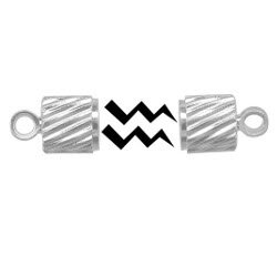 Silver Plated Tube Magnet Jewelry Clasp  12 Pack