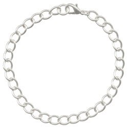 Silver Plated Large Link Curb Chain Bracelet  12 Pack