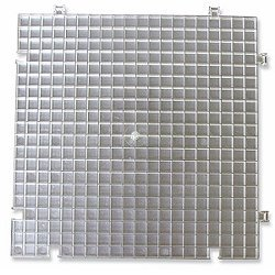 White Waffle Grid Surface  2 pack