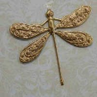 Dragonfly Filigree Brass Large