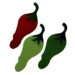 Chili Pepper Precut Fusible Glass Shape 96 COE