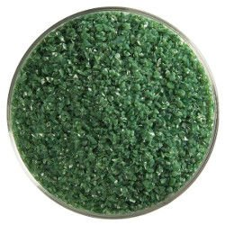 Bullseye Dark Forest Green Opal Frit Medium 90 COE