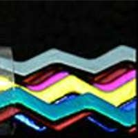 CBS 6MM Primary Colors Wavy Dichroic Firestrips 96 COE