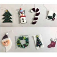 Fun Night Out Fused Glass Ornaments - December 6