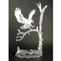 Eagle Brushed Aluminum Art Stand