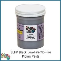 Colors for Earth Black Low Fire, No Fire Piping Paste