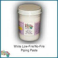 Colors for Earth White Low Fire, No Fire Piping Paste