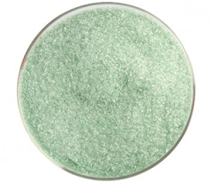 Bullseye Leaf Green Frit Fine Transparent 90 COE