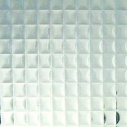 Clear Cross Reeded Textured Glass